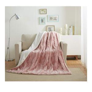 🆕️ 50x60 Faux Fur Rose Gold Pink  Throw Blanket